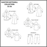JUJUNA kaava: Naisten Softshell collection 32-56