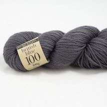 British Blue Wool 100g, Harmaa