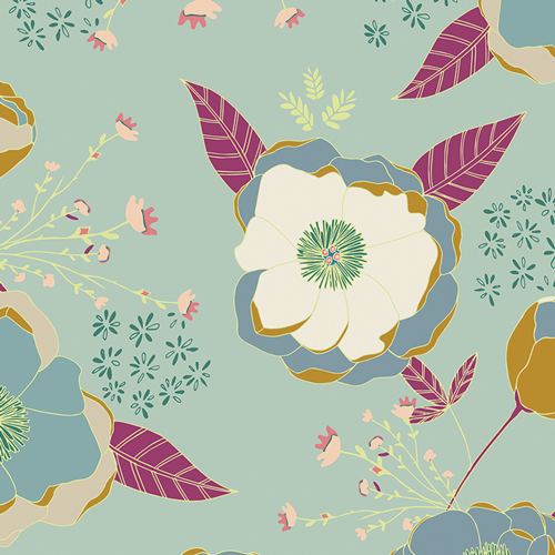 Art Gallery, trikoo: Sprinkled Peonies Serene